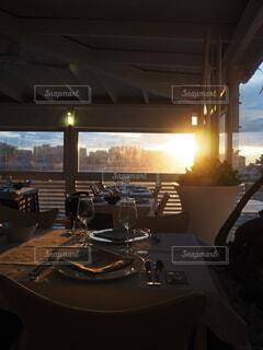 夕日,ディナー,屋内,アート,明るい,夕食,ドキドキ