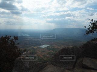 自然,風景,空,屋外,雲,霧,山,丘,光芒,谷,峡谷,天空の寺院,閃光,プレアヴィヒア寺院