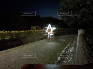 夜,屋外,ライト,星,チャレンジ,夜遊び,おしゃれ,ライトチャレンジ,書けるかな,描けるかな