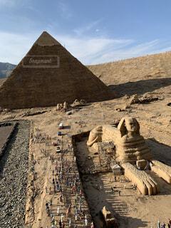 空,屋外,山,砂漠,地面,ピラミッド,エジプト,スフィンクス,考古学