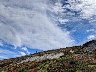 山の側の看板の写真・画像素材[4933248]