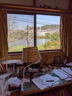 屋内,窓,家,椅子,テーブル,家具