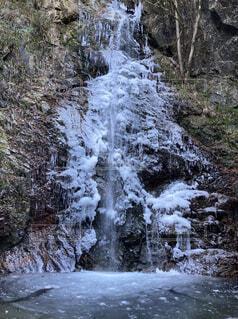 自然,風景,冬,雪,屋外,水面,滝,樹木