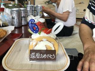 食べ物,屋内,人物,人,ボトル,誕生日ケーキ,還暦,ファストフード