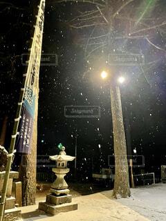 初詣,明るい,初雪