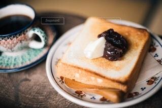 あんバタートーストの写真・画像素材[4163540]