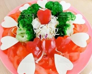 食べ物,飲み物,トマト,野菜,ハート,健康的,チーズ,サラダ,ブロッコリー,料理,おいしい,パプリカ