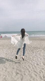 自然,風景,海,空,屋外,砂,ビーチ,水面,海岸,人物,人