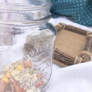 瓶,おやつ,ピクニック,水玉,ボトル,メイソンジャー,あられ,食品保存容器
