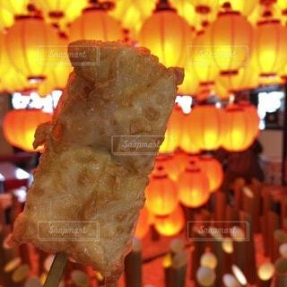 京都,提灯,食品,明るい,食べ歩き,おつまみ,湯葉チーズ