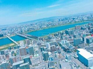 空,建物,水面,タワー,都会,高層ビル,空中