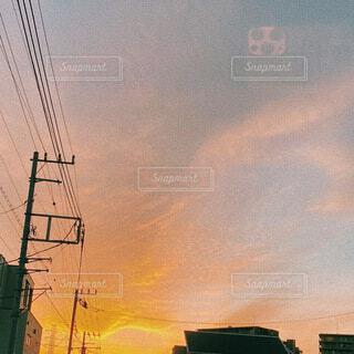 空,夕日,屋外,雲,夕暮れ,夕方,綺麗な空