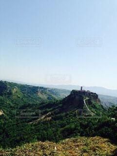 自然,風景,空,屋外,山,丘,村,眺め