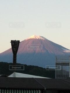 空,富士山,屋外,夕焼け,山,日本一