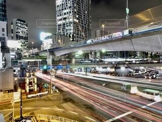 風景,空,建物,夜,夜景,東京,車,都市,街,光,高速道路,都会,高層ビル,日本,たくさん,渋谷,明るい,町,国道,通り,ダウンタウン,光線,車両