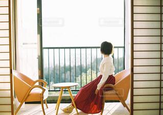 朝日をあびながらの写真・画像素材[4453182]