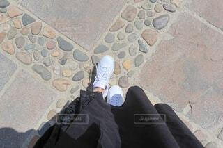 お散歩コーディネートの写真・画像素材[4415347]