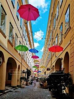 ウィーンの裏路地の写真・画像素材[4169424]