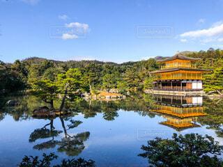 晴れた日の金閣寺の写真・画像素材[4176960]