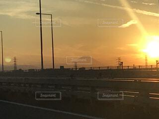 月・富士山・夕陽のコラボの写真・画像素材[4173340]