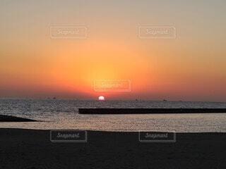 自然,風景,海,空,屋外,太陽,砂,ビーチ,砂浜,夕暮れ,水面,海岸