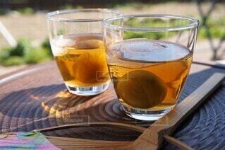 縁側で梅酒を味わうの写真・画像素材[4362599]