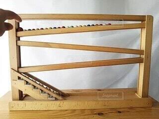 シロフォン付き木製玩具の写真・画像素材[4665255]