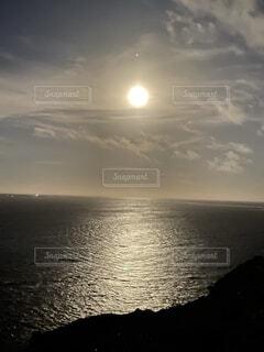 自然,風景,海,空,屋外,湖,太陽,雲,水面,月
