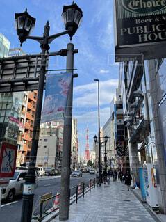 東京タワーが道の終わりの写真・画像素材[4183017]