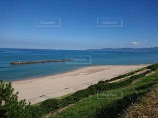 自然,風景,空,屋外,雲,青空,砂浜,水面,海岸,草