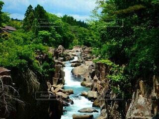 自然,屋外,川,水面,滝,樹木,岩,運河,草木,ストリーム