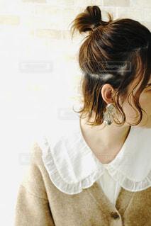 お団子ヘアの写真・画像素材[4406629]