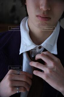 スーツの準備時間の写真・画像素材[4243206]