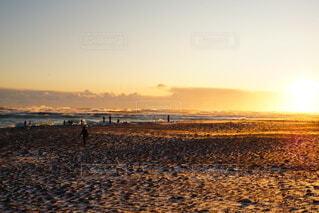 海,空,屋外,ビーチ,水面,海岸,夕陽,ダイヤモンドビーチ