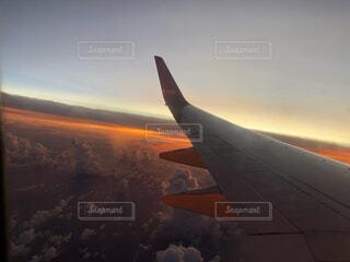 旅行の帰り空の写真・画像素材[4196287]