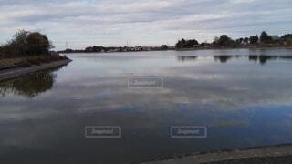 砂沼の雲の写真・画像素材[4202251]