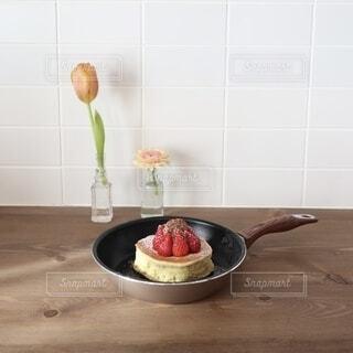 ふわふわのホットケーキの写真・画像素材[4199202]