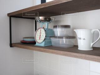 キッチン背面カウンターの写真・画像素材[4263232]