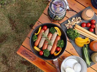 食べ物,アウトドア,テーブル,キャンプ,ソーセージ,BBQ