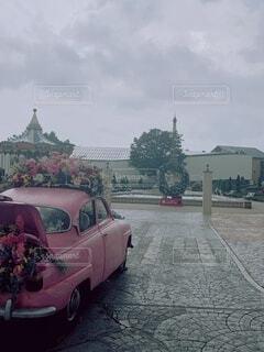 空,花,屋外,フラワー,車,オシャレ,車両,おしゃれ,陸上車両