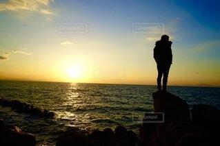 自然,海,空,ビーチ,雲,夕暮れ,海岸,人