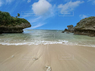 自然,風景,海,空,屋外,砂,ビーチ,雲,水面,海岸,樹木