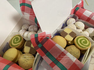手作りクッキーボックスの写真・画像素材[4212392]