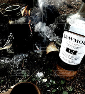 アウトドア,ボトル,キャンプ,焚き火,サントリー,ハーフボトる,ウイスキーがお好きでしょ,ボウモア12年