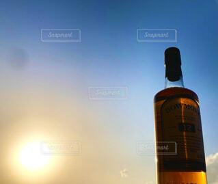 自然,空,屋外,夕焼け,日没,サントリー,ウィスキー,ちょっと贅沢,ボウモア12年