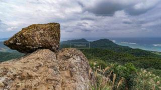 自然,風景,海,空,屋外,ビーチ,雲,島,沖縄,山,登山,岩,小浜島,景観,眺め
