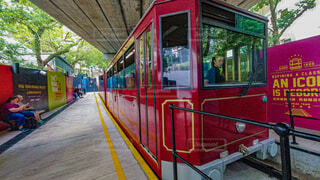 屋外,バス,香港,鉄道,車両,トロッコ,プラットフォーム