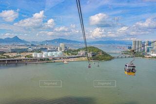 風景,空,屋外,湖,ビーチ,雲,ボート,船,水面,香港,ゴンドラ,車両,水上バイク