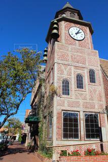 空,建物,屋外,窓,時計,レンガ,タワー