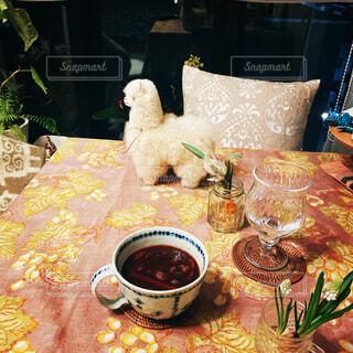 カフェ,インテリア,夜,動物,食事,花瓶,部屋,リラックス,食器,おいしい,アルパカ,おうちカフェ,ドリンク,ダイニングテーブル,ホーム,おうち,ライフスタイル,リラックスタイム,おうち時間,ステイホーム,ホットワトン